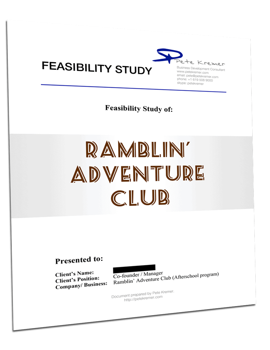 Business Feasibility Study – Case Study
