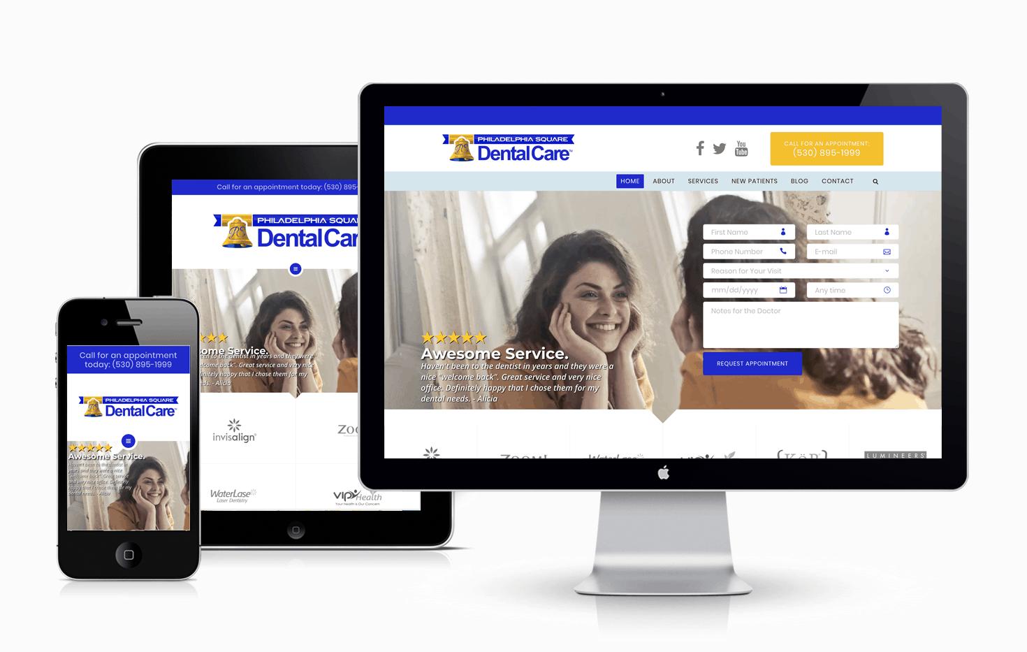 Dental Websites - Philadelphia Square Dental Care