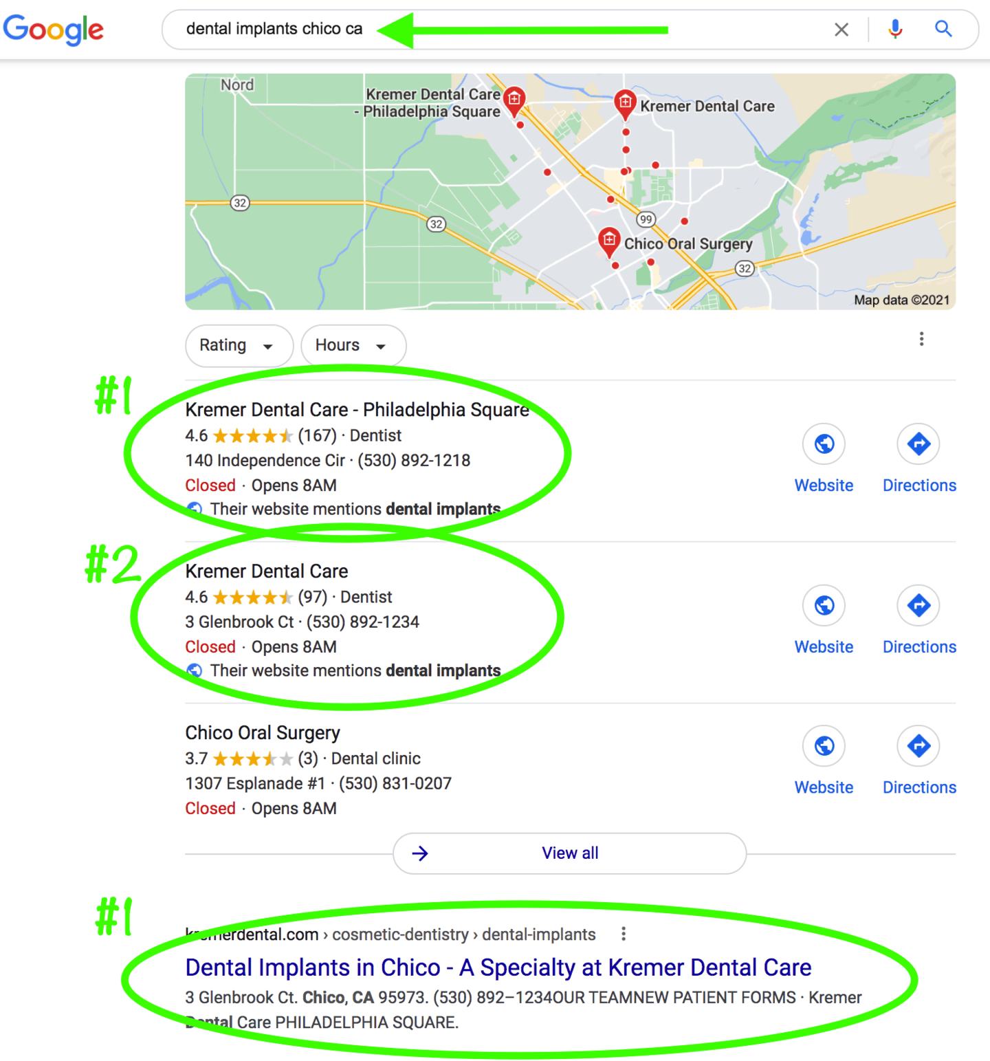 #1 Rank in Google Maps and Google Search